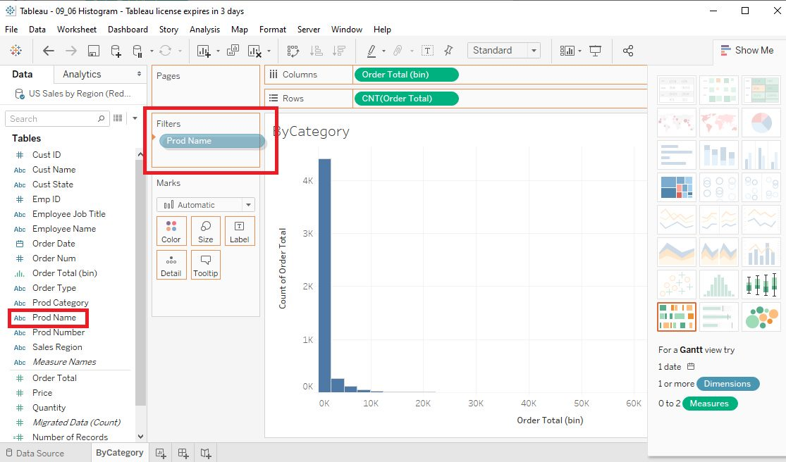 Tableau Histograms Step 4